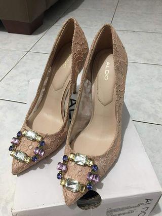 Aldo Pink Lace Heels