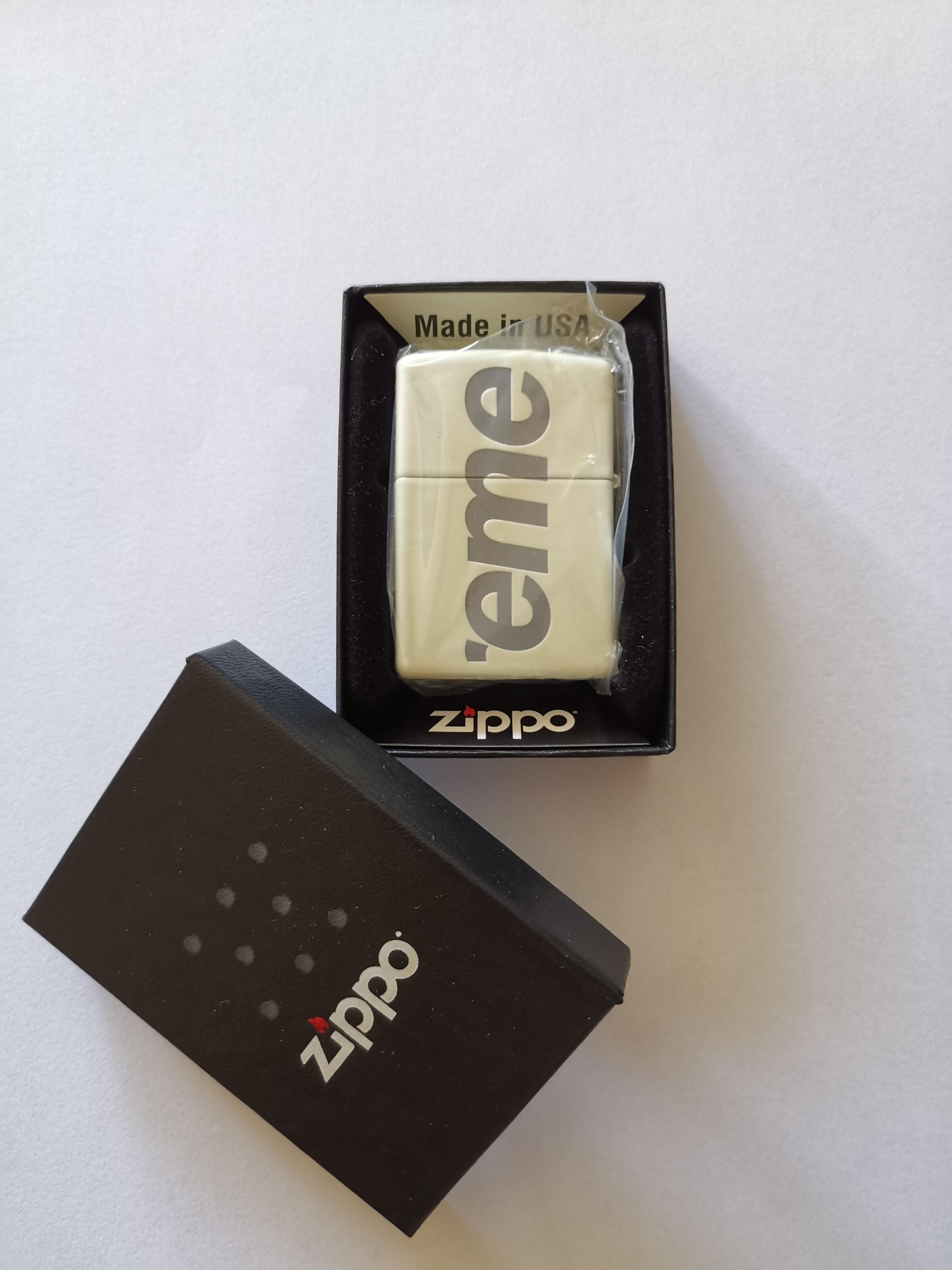 Authentic SUPREME Glow in the dark zippo
