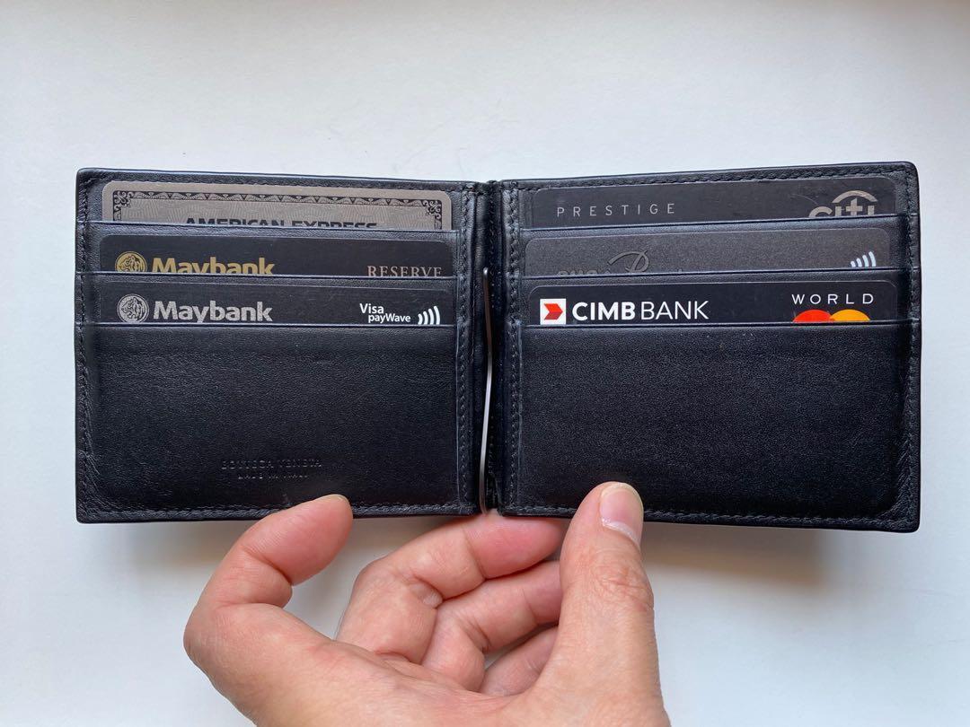 Bottega Veneta Intrecciato VN Leather Bi-fold Wallet with Money Clip (Black/Nero)