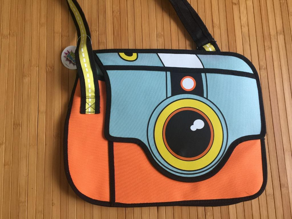 BRAND NEW 2D Drawing Cartoon Shoulder bag Messenger Bookbag