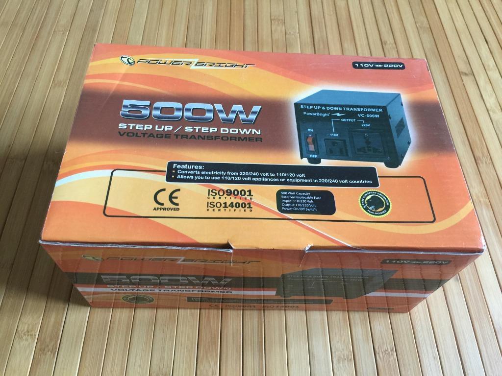 BRAND NEW 500W step up / step down voltage transformer