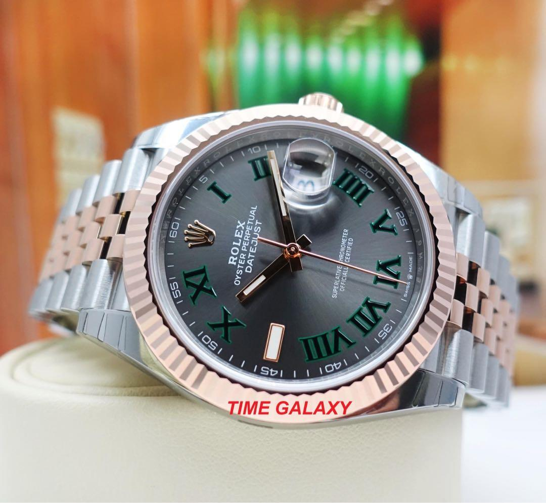 Brand New ROLEX Oyster Datejust 41mm 126331 Wimbledon Dial Steel And Everose Gold Jubilee