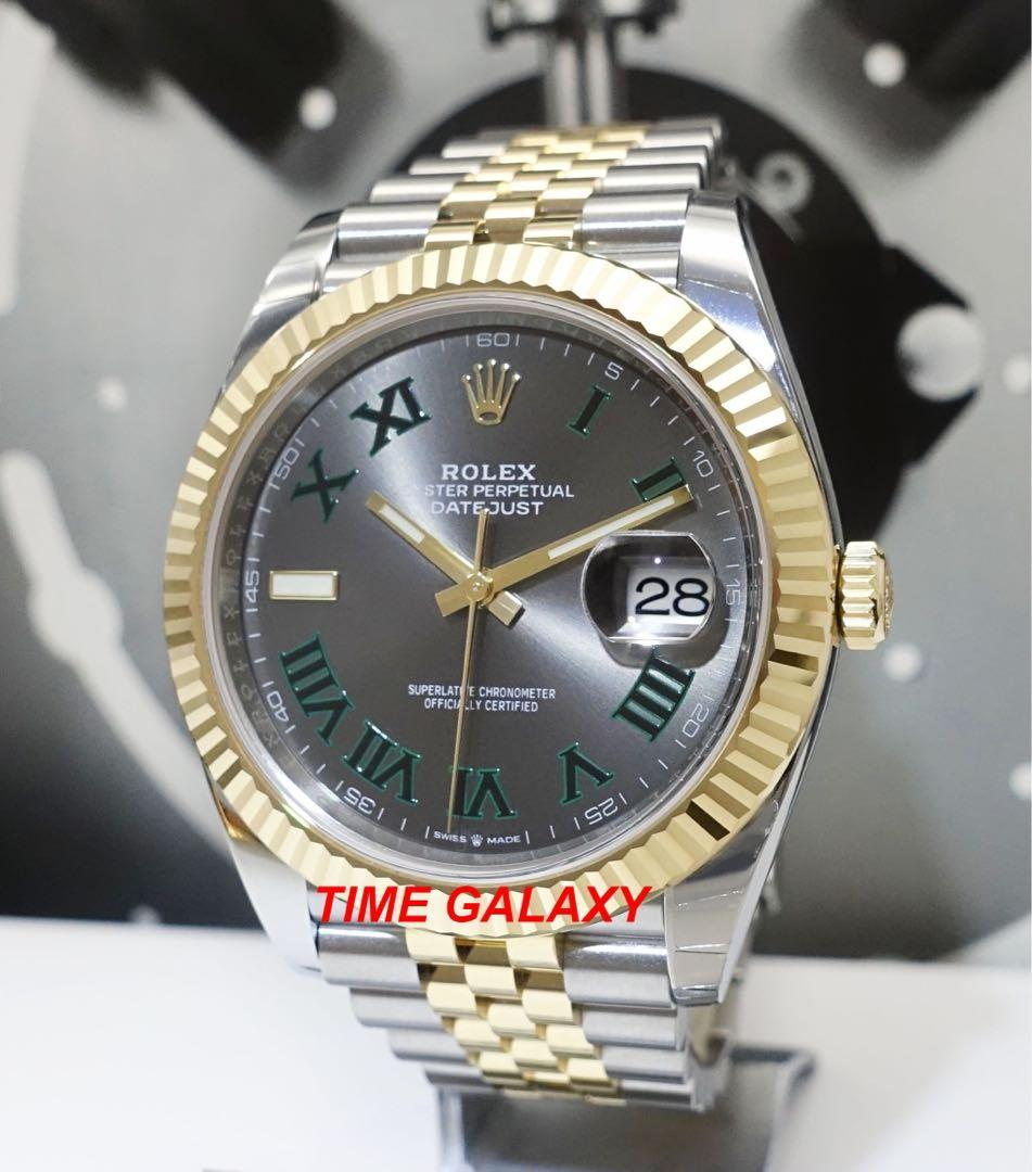Brand New ROLEX Oyster Datejust 41mm 126333 Wimbledon Dial Steel And Yellow Gold Jubilee