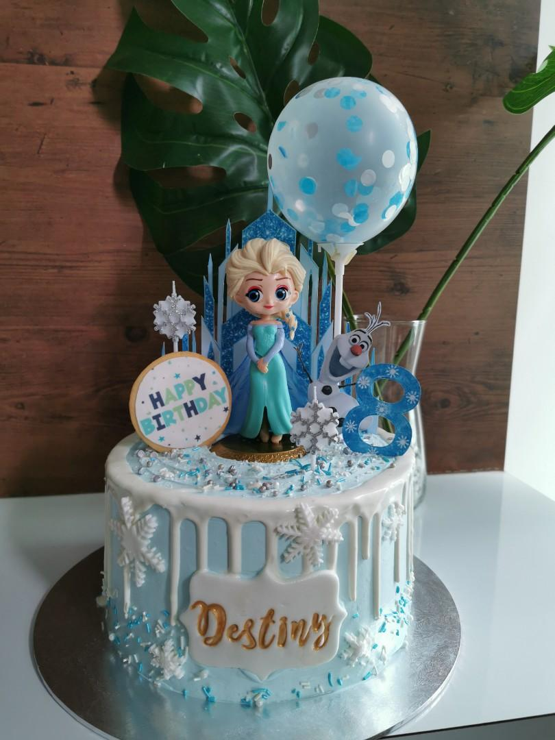 Miraculous Halal Frozen Themed Birthday Cake Food Drinks Baked Goods On Personalised Birthday Cards Paralily Jamesorg