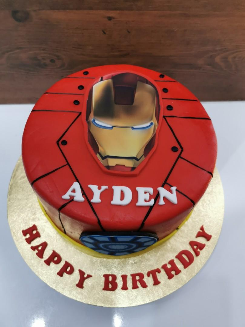 Awe Inspiring Halal Ironman Birthday Cake Food Drinks Baked Goods On Carousell Funny Birthday Cards Online Inifodamsfinfo
