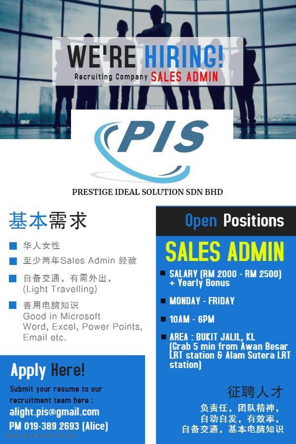 Indoor telesales,sales admin,digital marketing cum graphic designer