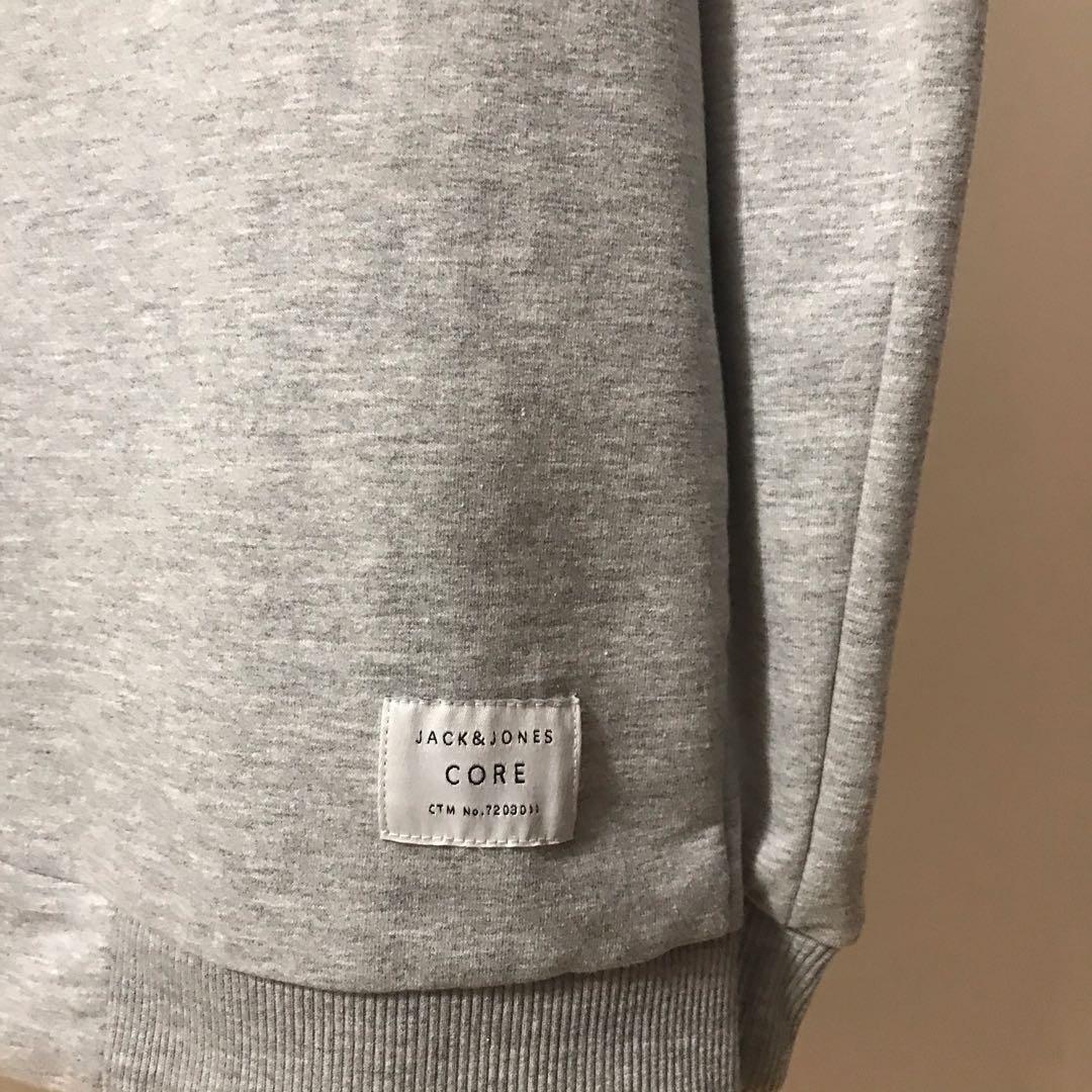Men's Jack & Jones Pullover Sweater - Grey - Large