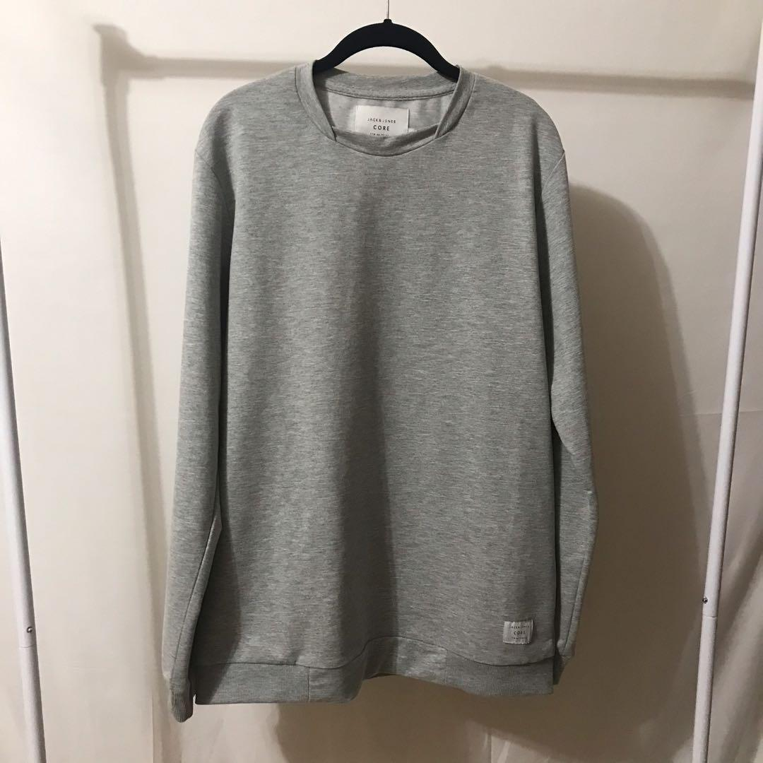 Men's Jack & Jones Pullover Sweater - Grey - Large