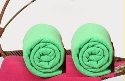 Large Microfiber Cotton Beach Sports Gym Bath Towel (Lime Green)
