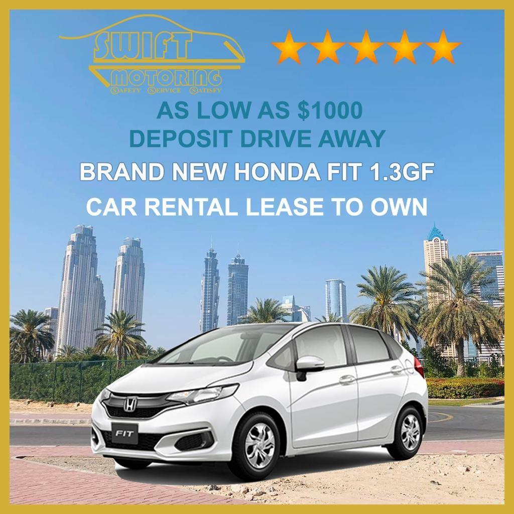 NEW Rental Lease to Own Honda Fit 1.3 GF LTO PHV rent cheap