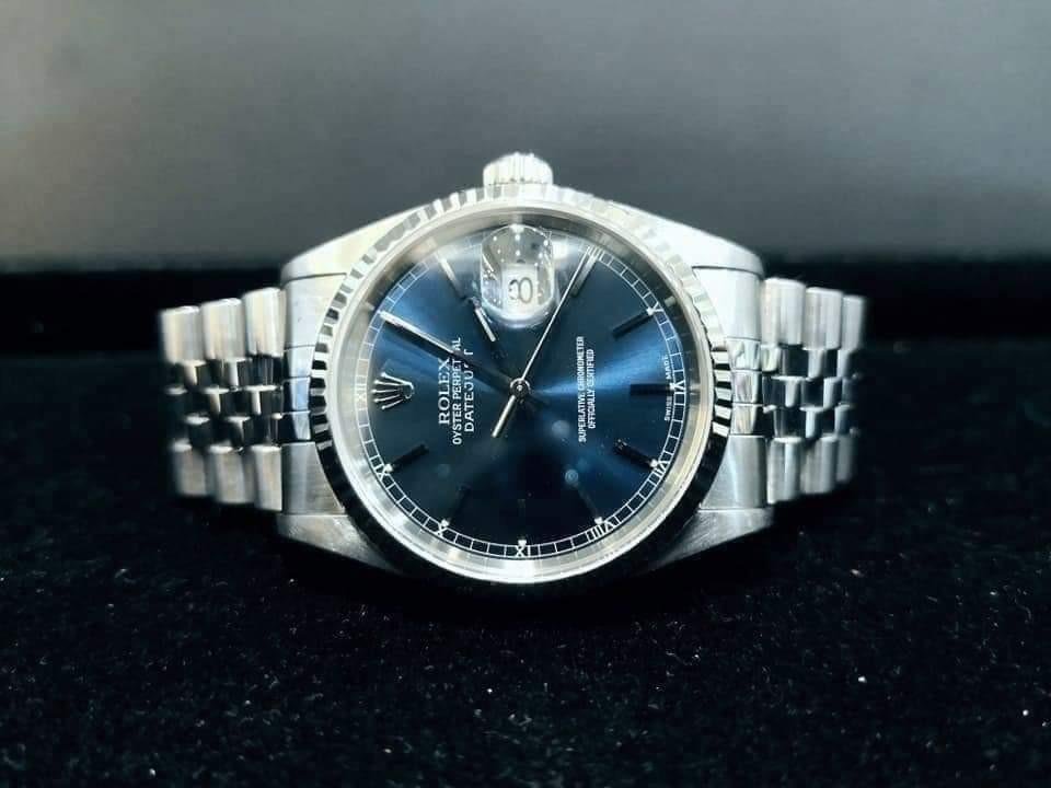 PREOWNED ROLEX Date just, 16234 Rolesor, Oystersteel and Whitegold, 36mm, Men-size, P Series @ Year 2000 Mens Watch