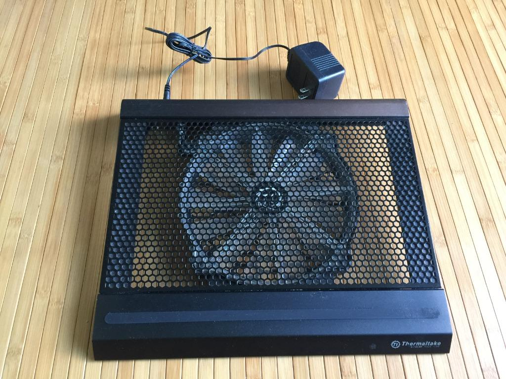Thermaltake metal notebook cooler with fan and LED lights