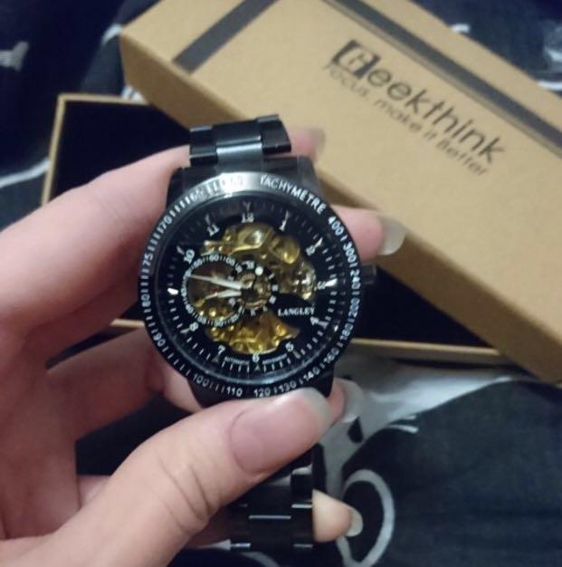Winner - Fashion Luxury Men's Mechanica Watches Automatic Skeleton Watch Clock Male Business Waterproof