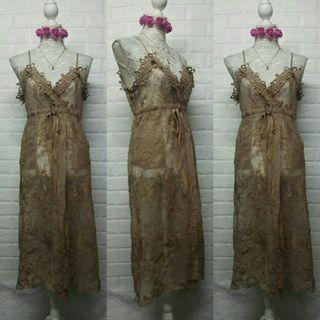 Mocha Mesh Coverup Dress