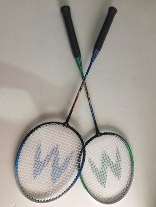 Sepasang Raket Badminton Moris Baru ex hadiah