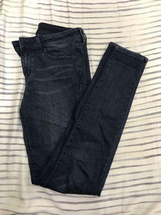 Uniqlo深藍牛仔褲 26腰