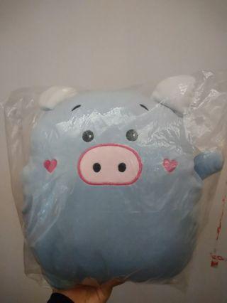 藍色小豬午休抱枕
