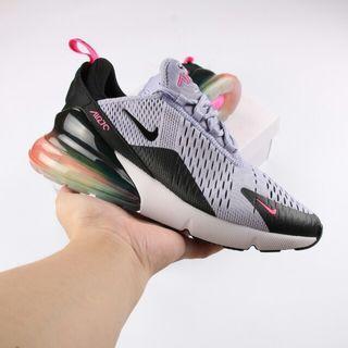 Nike Air Max 270 半掌氣墊慢跑鞋 紫七彩 男女款