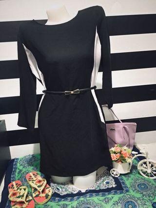 BLACK OFFICE DRESS