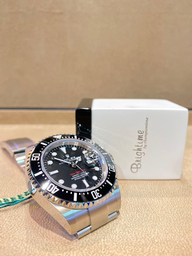 """Brand New Rolex Oyster Sea Dweller 43 """"Red"""" 126600 Black Dial Automatic Steel Casing Bracelet"""