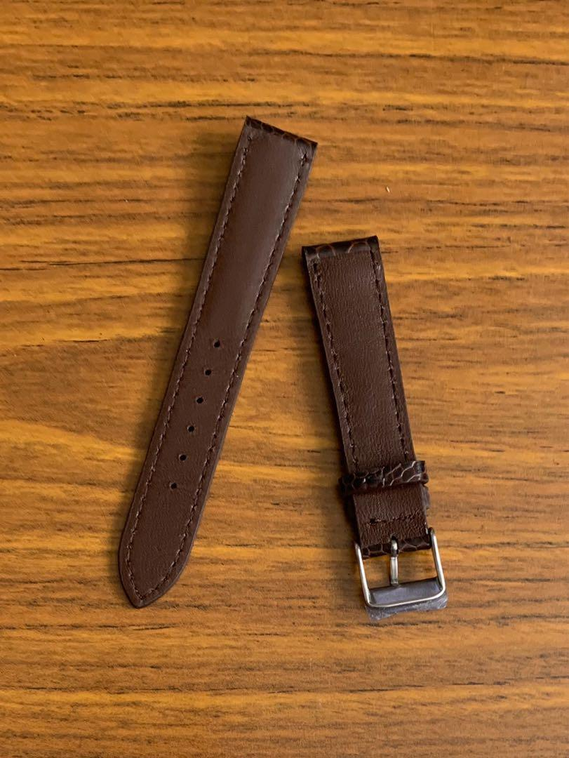 [DISCOUNTED] 18mm/16mm Authentic Pecan Brown Ostrich Leg Watch Strap (gorgeous leg grains- one of a kind, once sold no more 🙏🏻😊) Standard Length- L:120mm, S:75mm - LAST SUCH PIECE- CB SALE!!😊