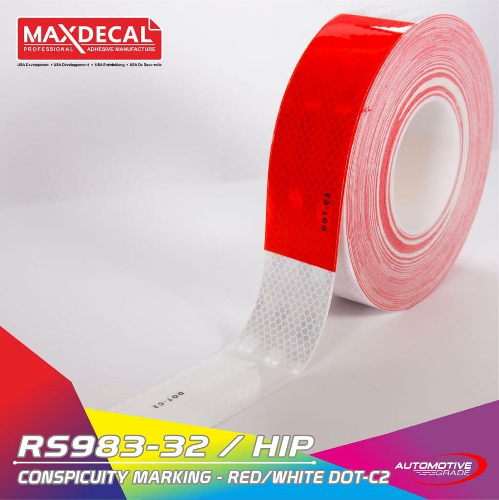 MAX DECAL REFLEKTOR SAFETY TAPE RS983 5CM LOGO 104R SYARAT KIR DISHUB