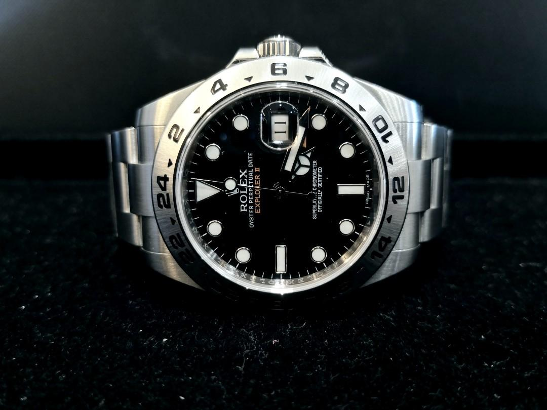 PREOWNED ROLEXEXPLORER 2 ,  216570, Oystersteel, 42 mm, Alphanumeric Series @ Year 2015 Mens Watch
