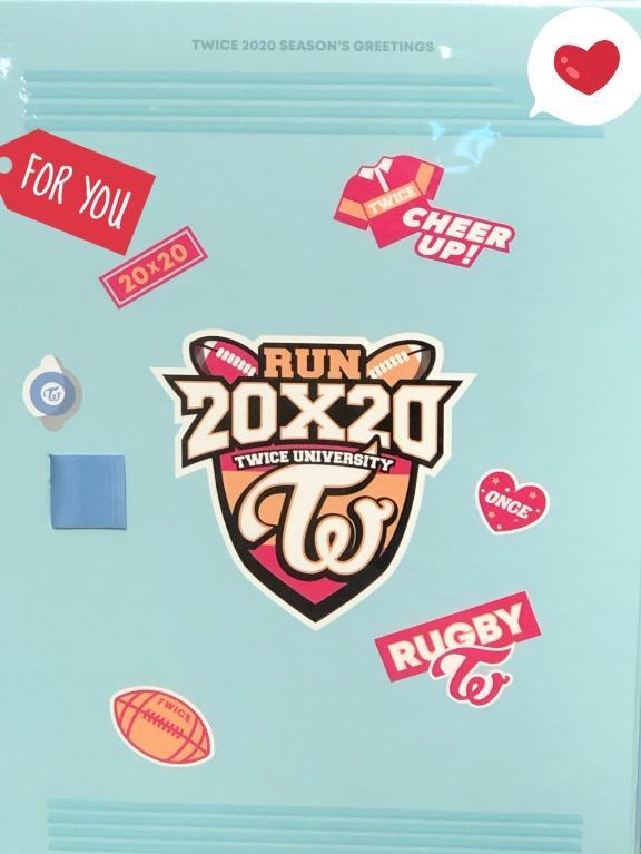 """[READY STOCK]: 2020 Season's Greetings """"RUN 20X20 - TWICE"""