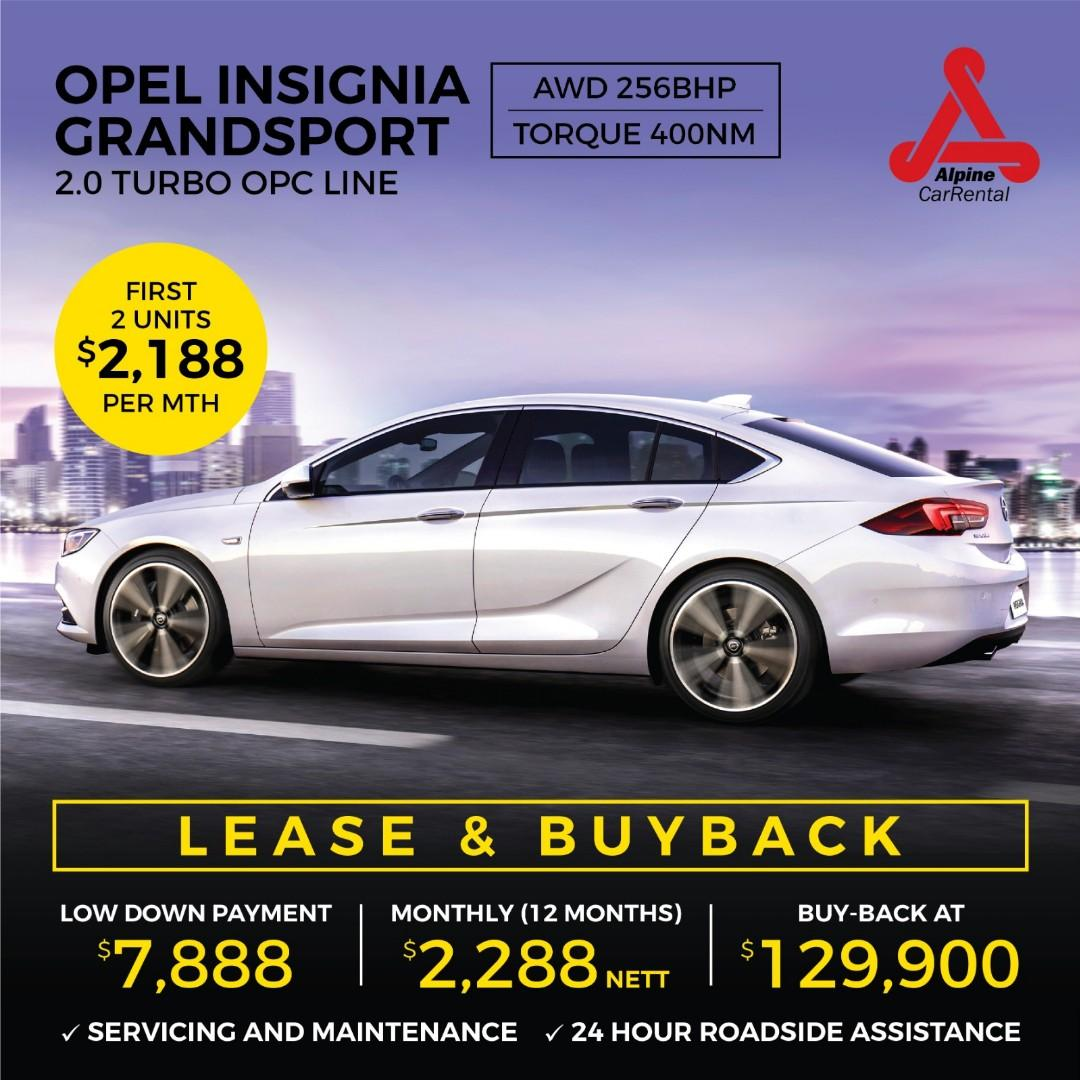 (SANDY) OPEL INSIGNIA 2.0 AWD TURBO FOR RENTAL LEASE