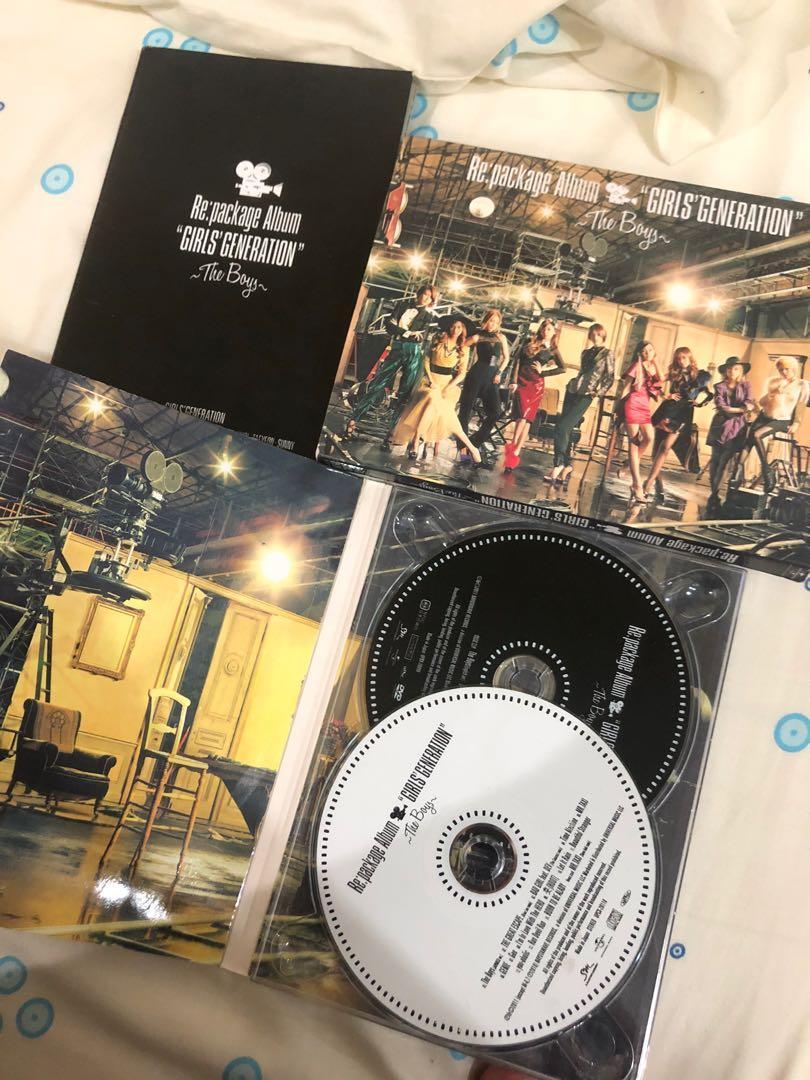 SNSD GIRLS GENERATION ALBUM THE BOYS REPACKAGE ALBUM