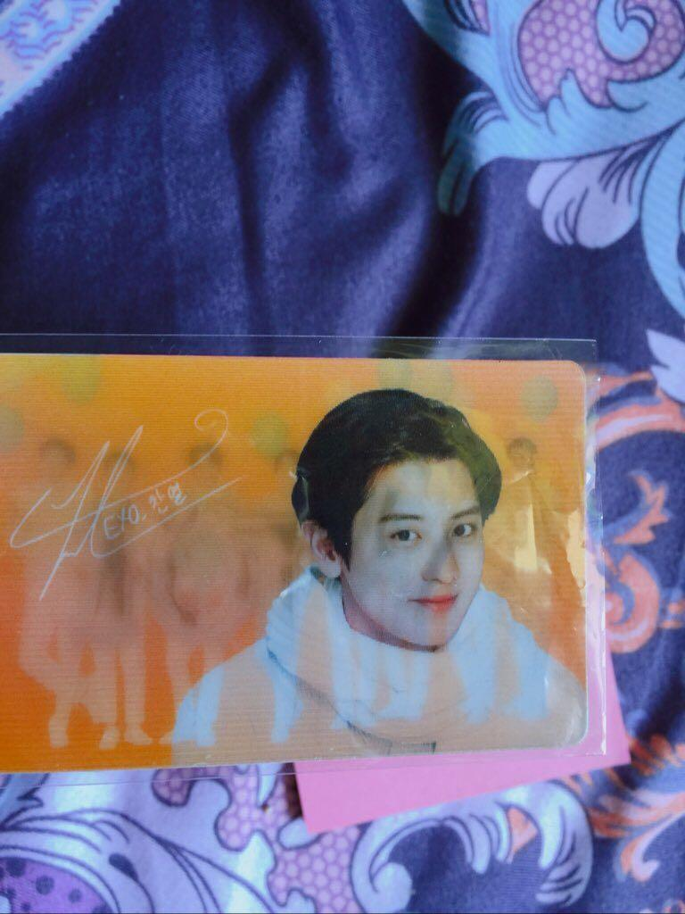 [WTS] EXO CHANYEOL NATURE REPUBLIC OFFICIAL PHOTOCARD