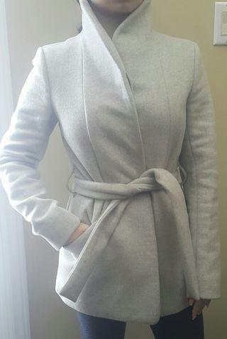 XXS WILFRED BELTED COCOON COAT