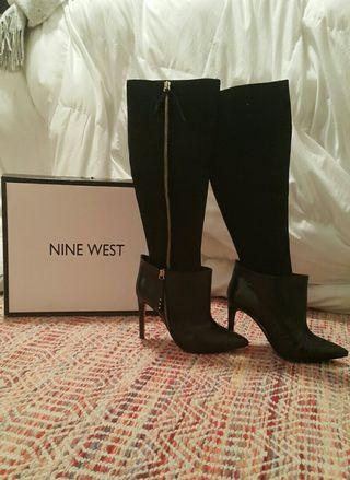 NINE WEST  SIZE 6 1/2-7  REAL LEATHER & SUEDE