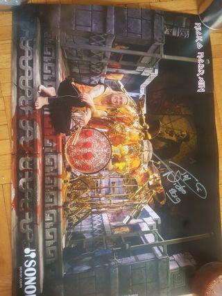 Iron Maiden Signed Nicko McBrain Poster
