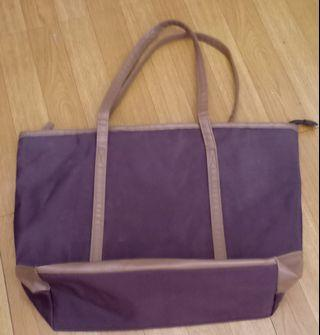 Avon brown tote bag