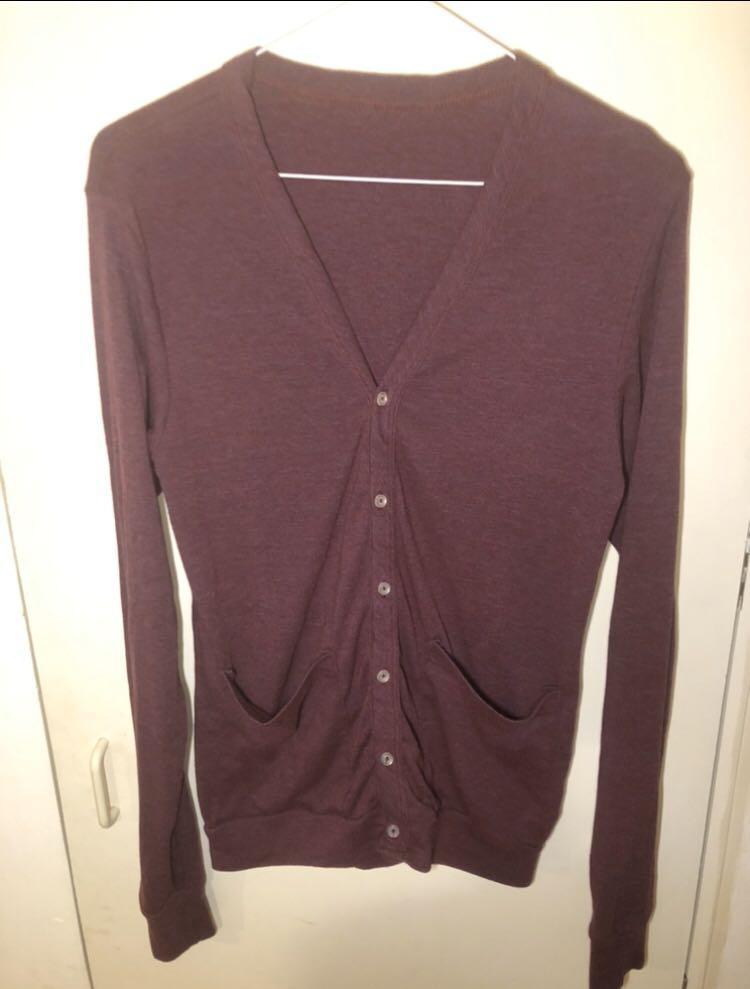 American apparel unisex tri blend cardigan size small