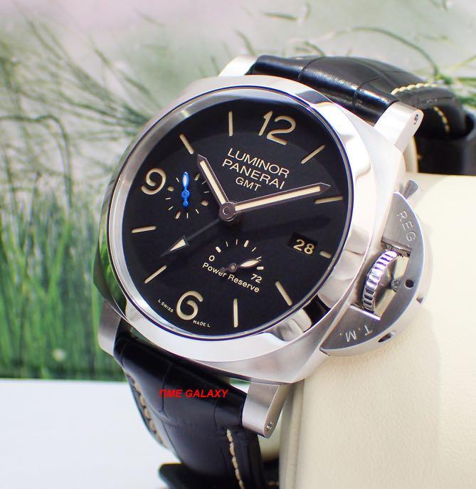 Brand New PANERAI PAM1321 Luminor 1950 3days GMT Power Reserve Automatic stainless steel 44mm watch. Swiss made.