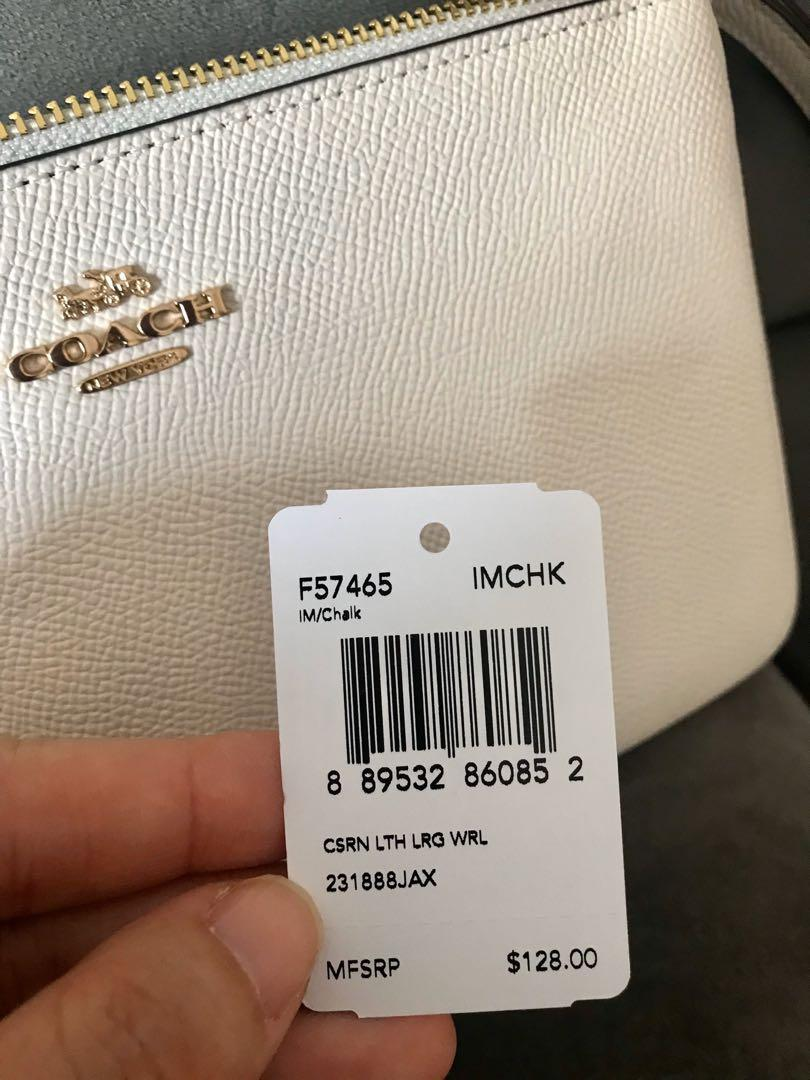 Coach Wristlet 100% authentic and brand new in classic white. Purchased personally from Las Vegas when I was there for vacation.