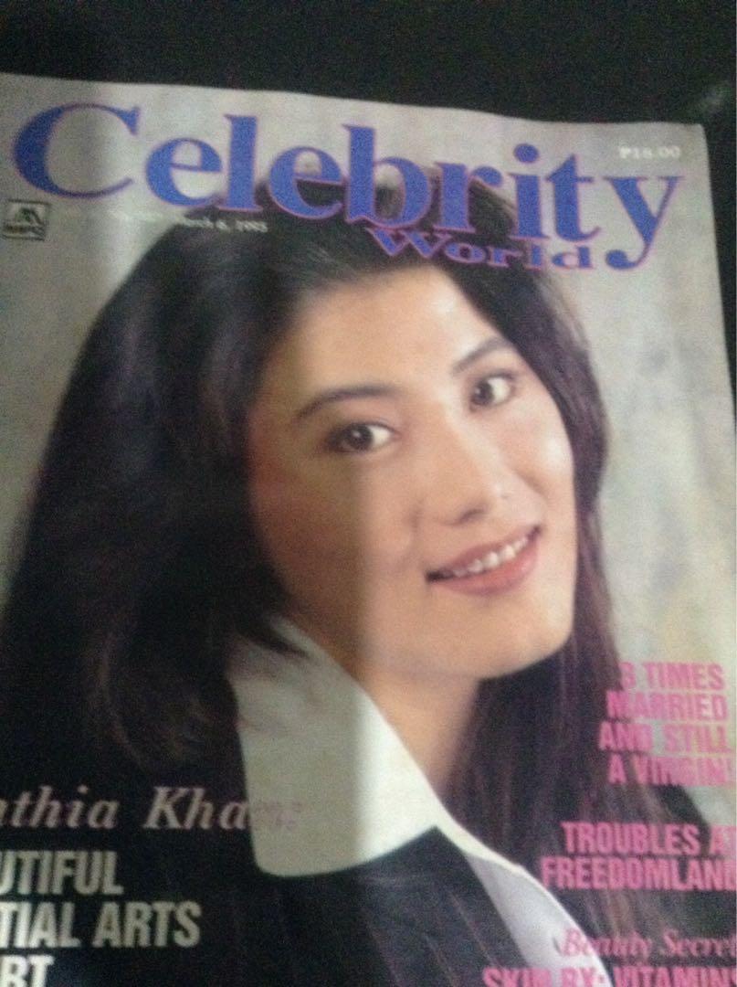 """CYNTHIA KHAN in """"Celebrity World""""/Besutiful Martial Arts Expert/Yr.1995"""