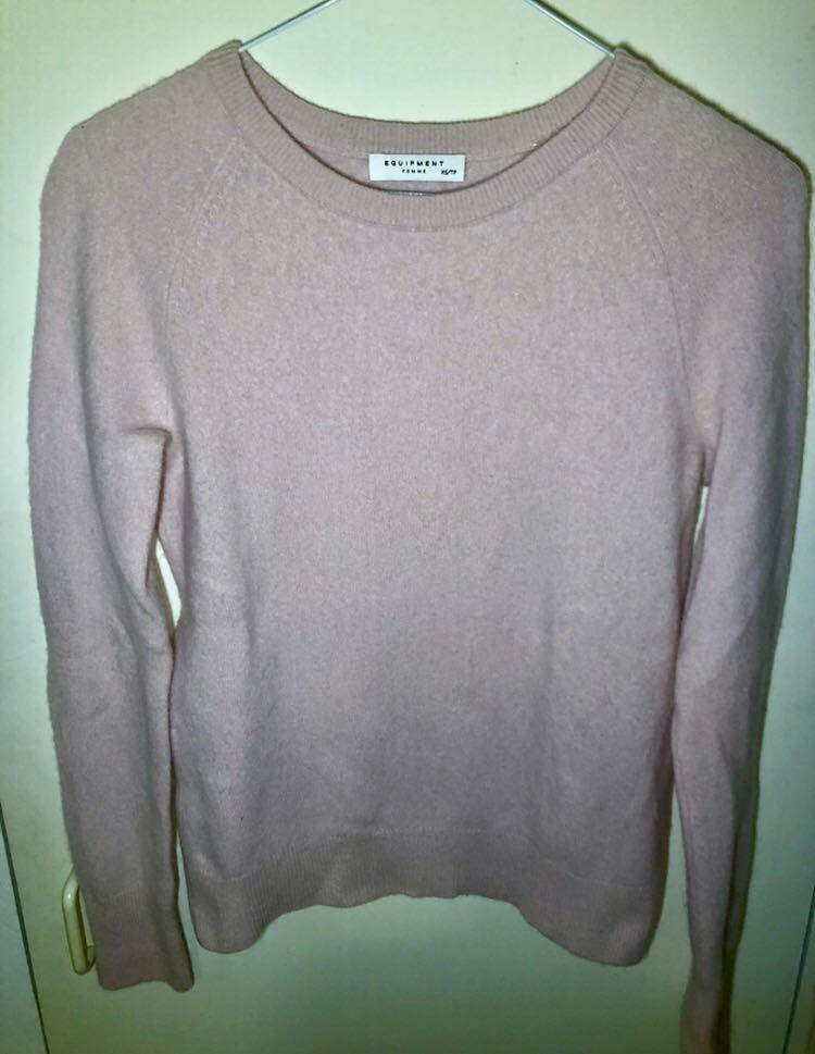 Equipment cashmere light pink women's sweater size xs