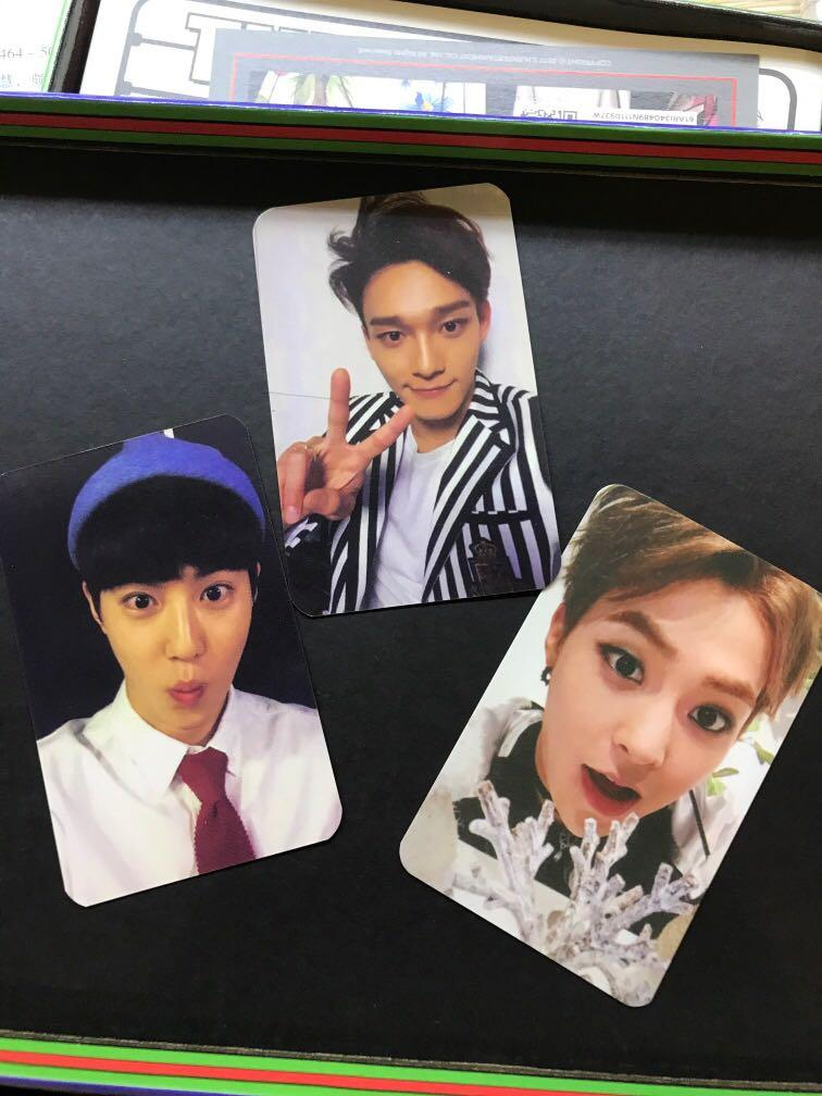 【WTT/WTS】Exo official photocard (suho chen xiumin)