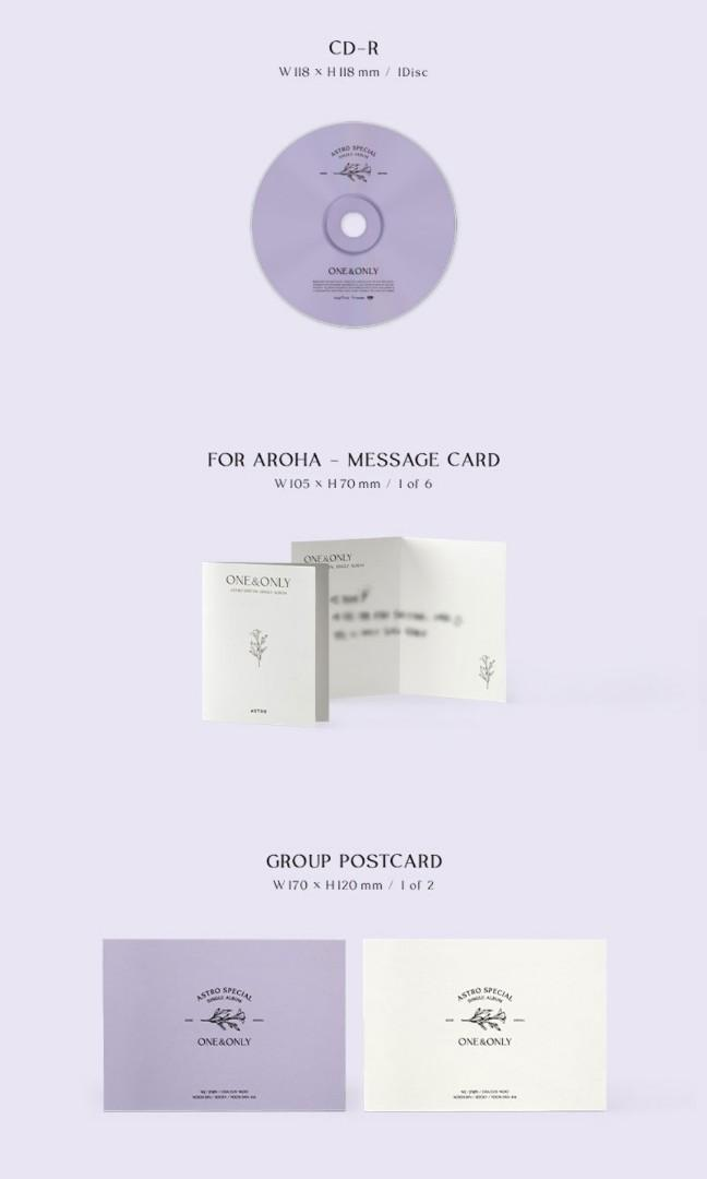 (Include postage) ASTRO ONE & ONLY [LIMITED EDITION]