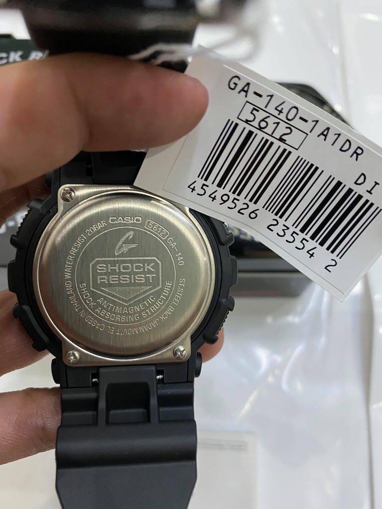 NEW🌟GSHOCK UNISEX DIVER SPORTS WATCH : 100% ORIGINAL AUTHENTIC CASIO G-SHOCK : GA-140-1A1 / GA-140BMC-1A (STEATH BLACK MATT)