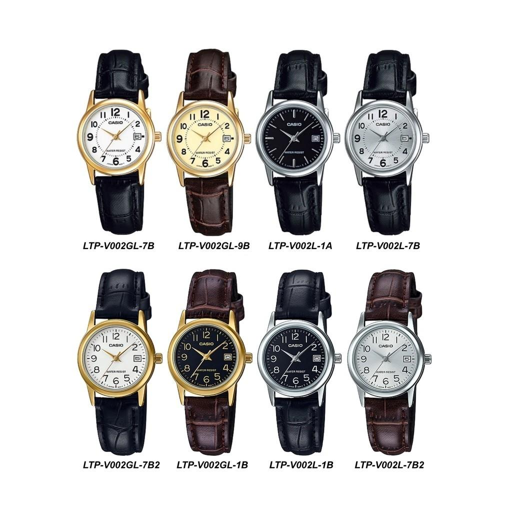 Readystock, speedpost delivery,Casio Small Leather Analog Watch (LTP-V002 Series)12m warranty