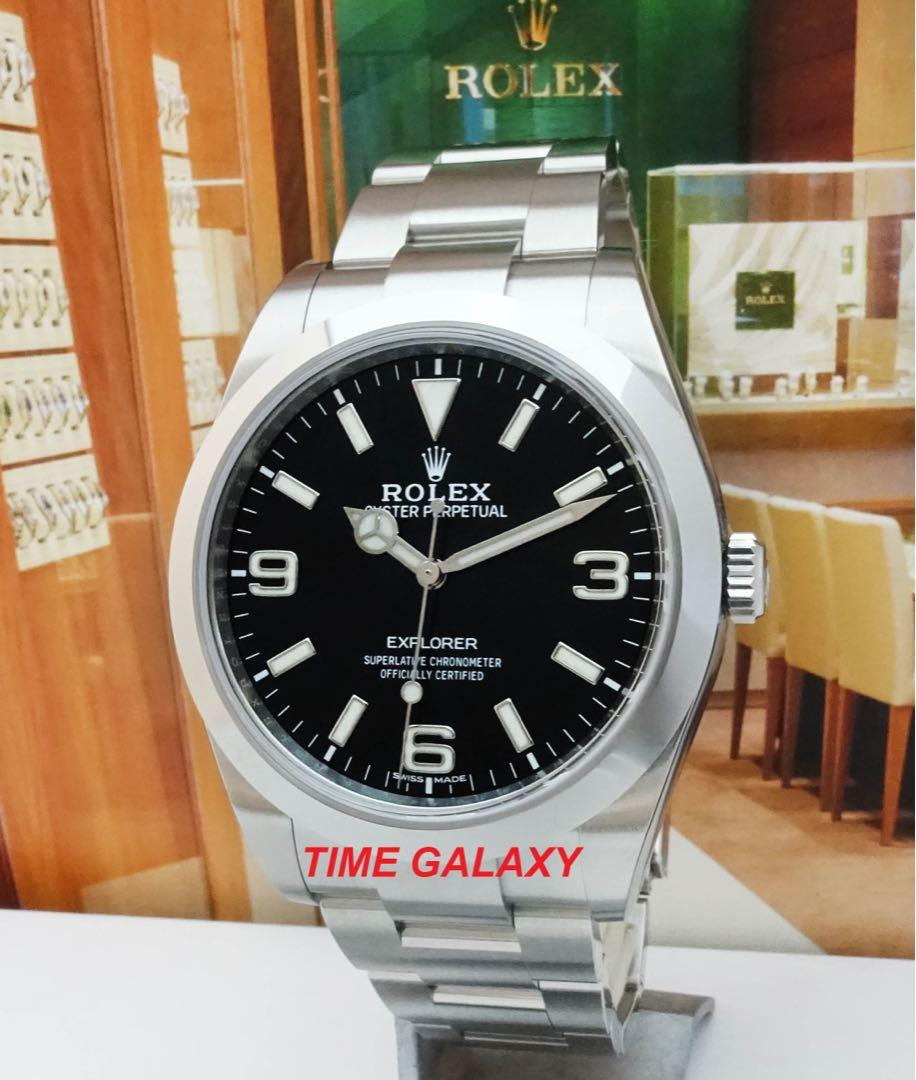 ROLEX Explorer 39mm 214270 Oystersteel Automatic Stainless Steel watch.