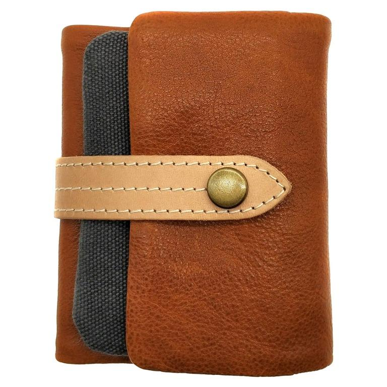 The Ninja Co. Full Grain Natural Leather Billfold Coin Pouch Wallet Money Card Holder Purse Men Women Gifts NJ 8855