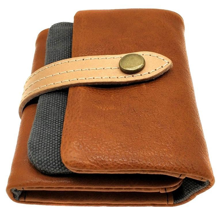 The Ninja Co. Full Grain Natural Leather Billfold Coin Pouch Wallet Money Card Holder Purse Men Women Gifts NJ 8855