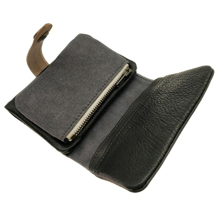 The Ninja Co. Full Grain Natural Leather Billfold Coin Pouch Wallet Money Card Holder Purse Men Women Gifts NJ 8856