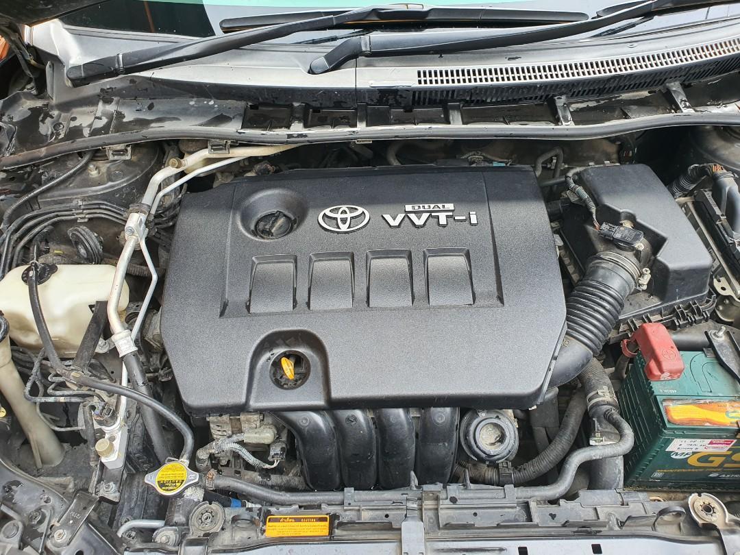 Toyota Altis 1.8G Dual VVT-i 2011/2010, low km 77 ribuan, bebas banjir