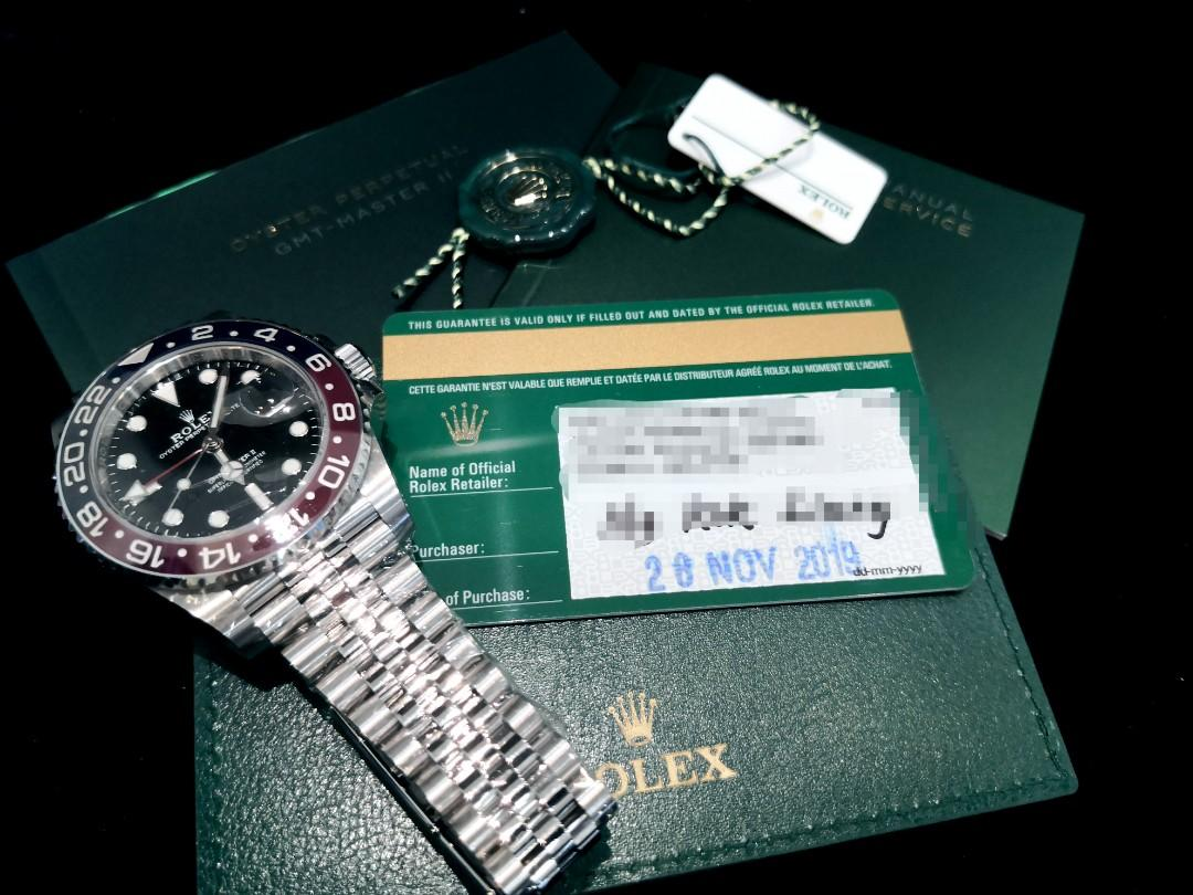 """UNWORN"" ROLEXGMTMASTER 2,  126710 BLRO, Oystersteel, 40mm, Alphanumeric Series @ Dated 2019, Nov. Mens Watch"